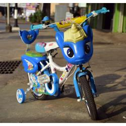 จักรยานหน้าการ์ตูนสีฟ้า