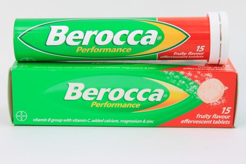 BEROCCA [รสผลไม้รวม] เม็ดฟู่15'S