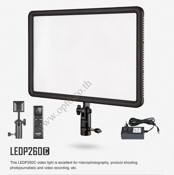 Godox LEDP260C Ultra Slim Led Video Light CRI95 3300-5600K