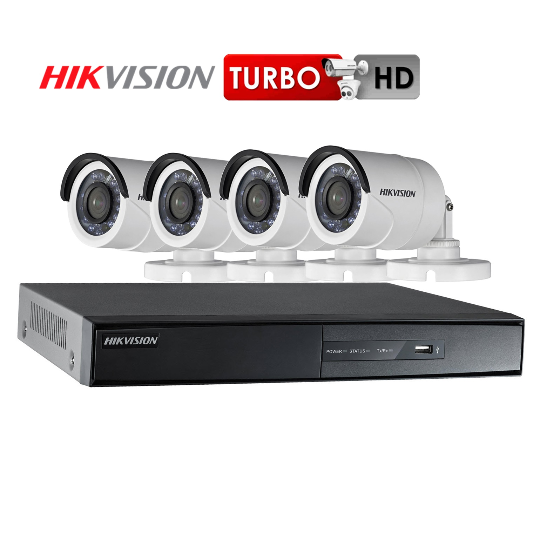 Hikvision SET 4 CH 1 mp. พร้อมติดตั้ง