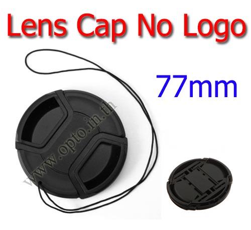 77mm. ฝาปิดหน้าเลนส์ไม่มีโลโก้สำหรับกล้อง Canon Nikon Sony Sigma Tamron