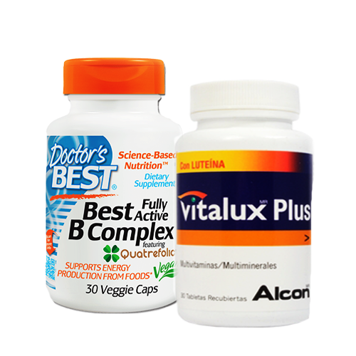 Doctor's Best, Best Fully Active B Complex, 30 Veggie Caps + Vitalux Plus 30s