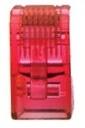 LINK CAT 5E RJ45 PLUG (ตัวผู้), Crystal RED บรรจุ 10 ตัว/Pkg