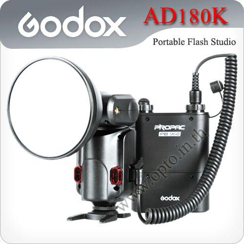 Godox WITSTRO AD180kit (180W/S, GN60 barebulb flash + PB960 lithium battery pack)