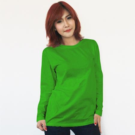เสื้อยืดแขนยาวสีเขียวไมโล ผ้าคอทตอน#32ไซส์XXL