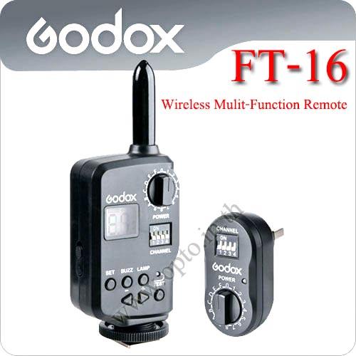 FT-16 Wireless Control For Flash Godox QS QT Series AD180 AD360
