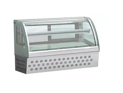 ตู้เค้ก กระจกโค้ง แบบตั้งโต๊ะ 90 cm.