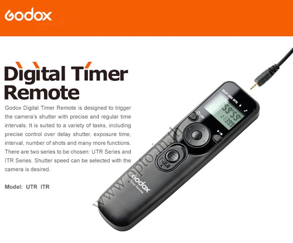 Godox Timer Remote Control C8 For Canon 50D/5D/6D/7D(TC-80N3)