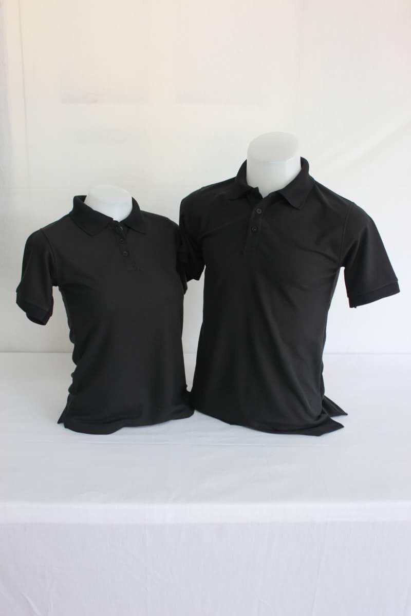 เสื้อโปโลผู้ชาย สีดำ ไซส์/5XL/รอบอก50นิ้ว