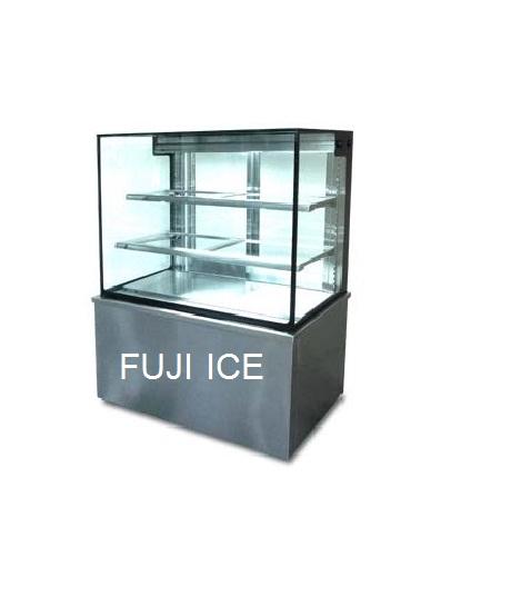 ตู้โชวเค้ก กระจกเหลี่ยม ขนาด 150 cm.