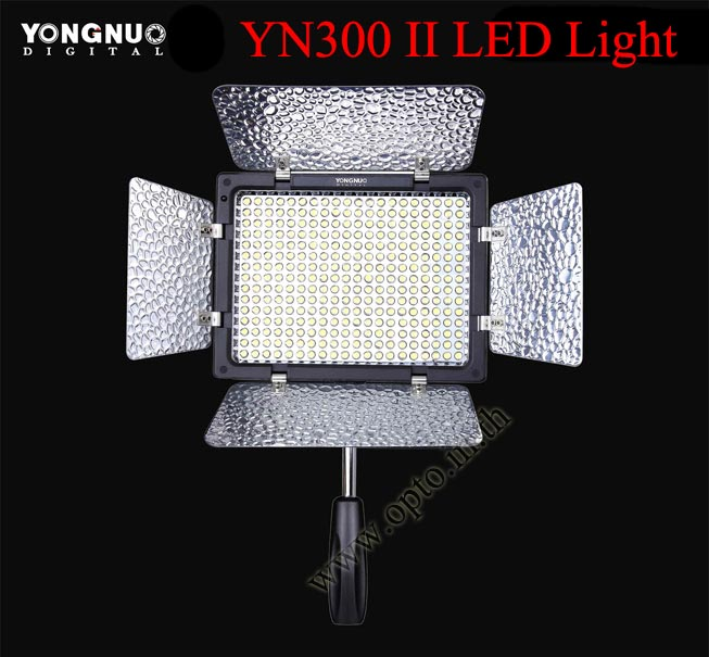YN300 II 3300-5500K YongNuo LED Video Light ไฟต่อเนื่องสำหรับถ่ายภาพและวีดีโอ