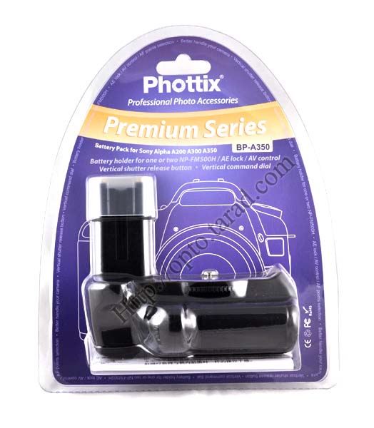 Phottix BP-A350 Premium Grip for Sony A200 A300 A350 VG-B30AM(Compatible) New
