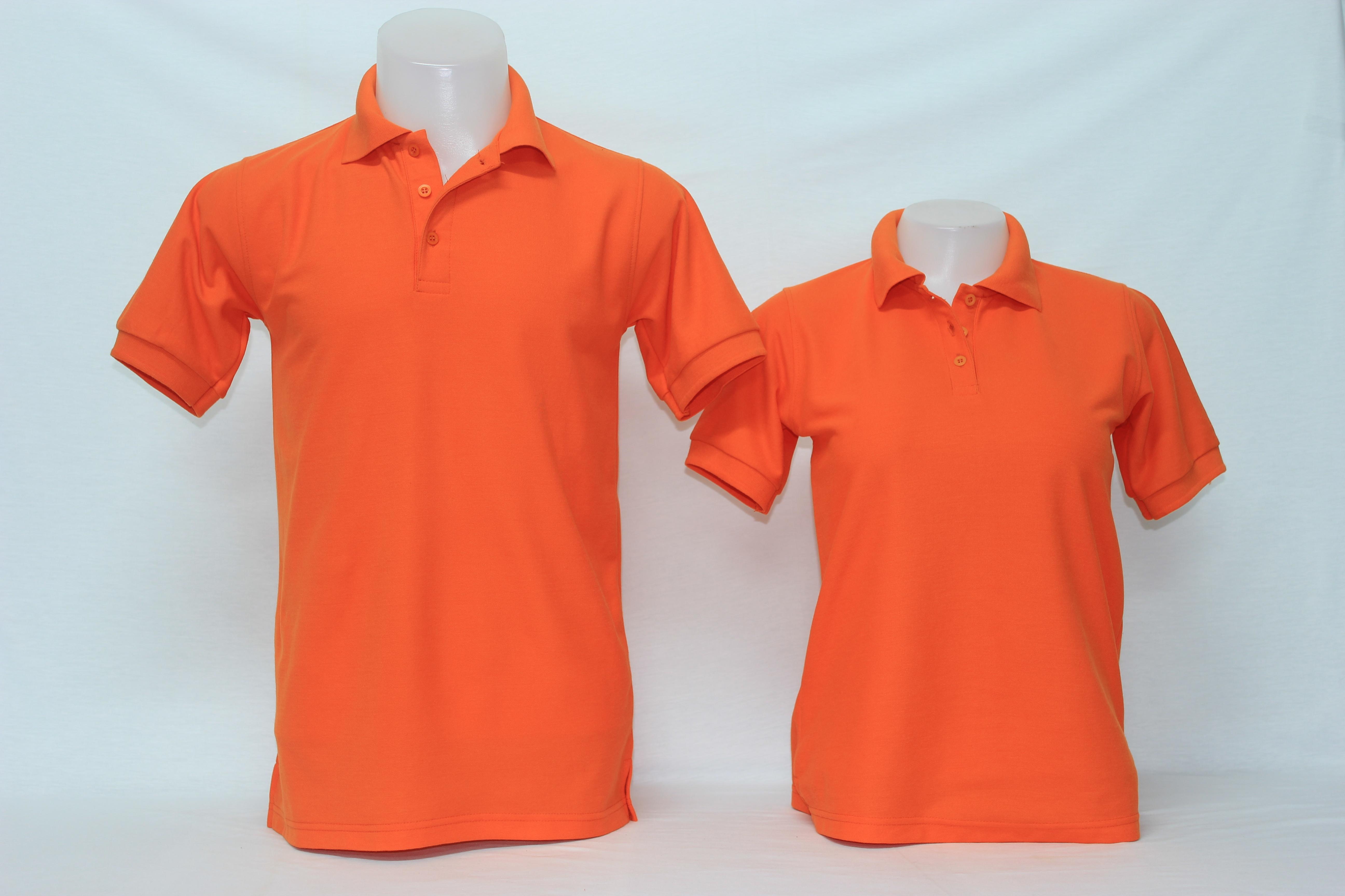 เสื้อโปโลชาย สีส้ม ไซส์/M/รอบอก38