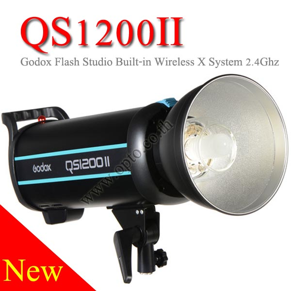 QS1200II Godox Professional Studio Strobe Flash Light 1200Ws Built-in Wireless X System แฟลชสตูดิโอ