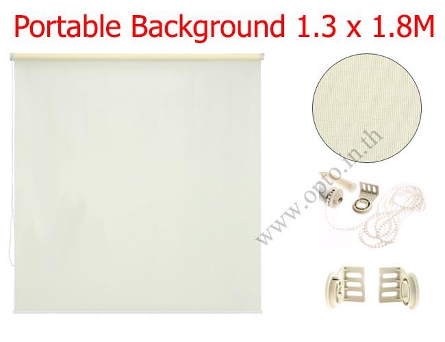 ฉากผ้าแบบติดผนังสีขาว 130x180cm. มาพร้อมขายึด+โซ่ม้วนผ้า(สามารถใช้งานได้ทันที)