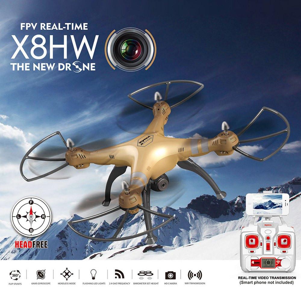โดรนติดกล้อง Syma X8HW WIFI FPV 0.3MPกล้อง 2.4กิกะเฮิร์ตซ์4CH 6แกนGyro ลอคความสูงได้บินนิ่ง มีไวไฟควบคุมผ่านมือถือ