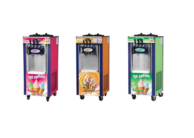 เครื่องทำและกดไอศครีม soft serve 3 หัวจ่าย (ตั้งพื้น)