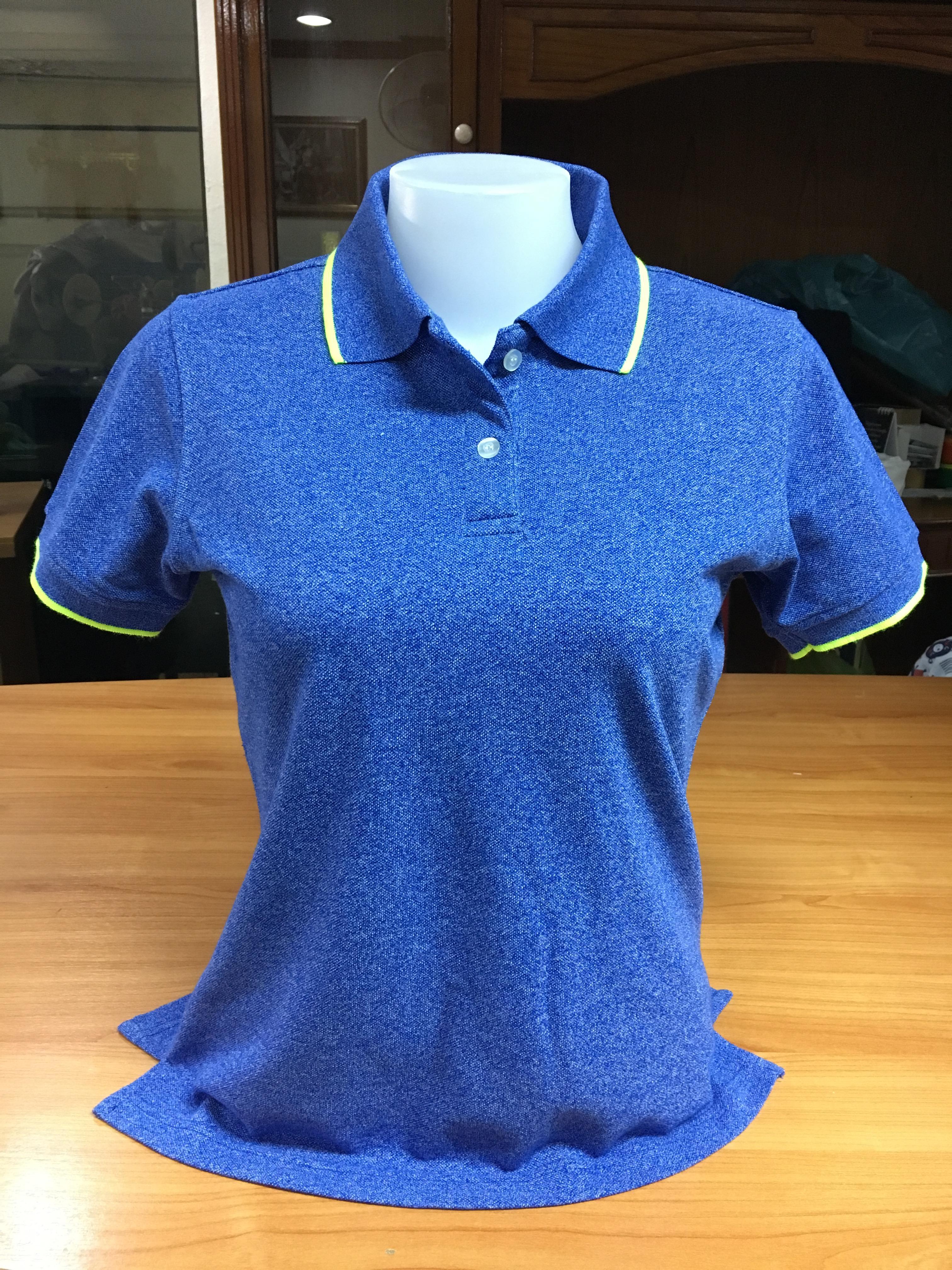 เสื้อโปโลหญิง สีน้ำเงินขอบฟ้า ไซส์/L/รอบอก38นิ้ว