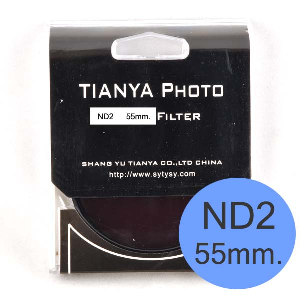 TIANYA Neutral Density ND 2 ND2 Filter 55mm.
