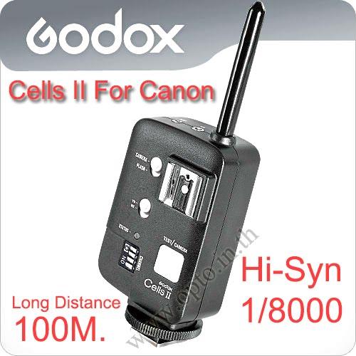 Godox Cells II Wireless Speedlite Transceiver Trigger High Speed Sync