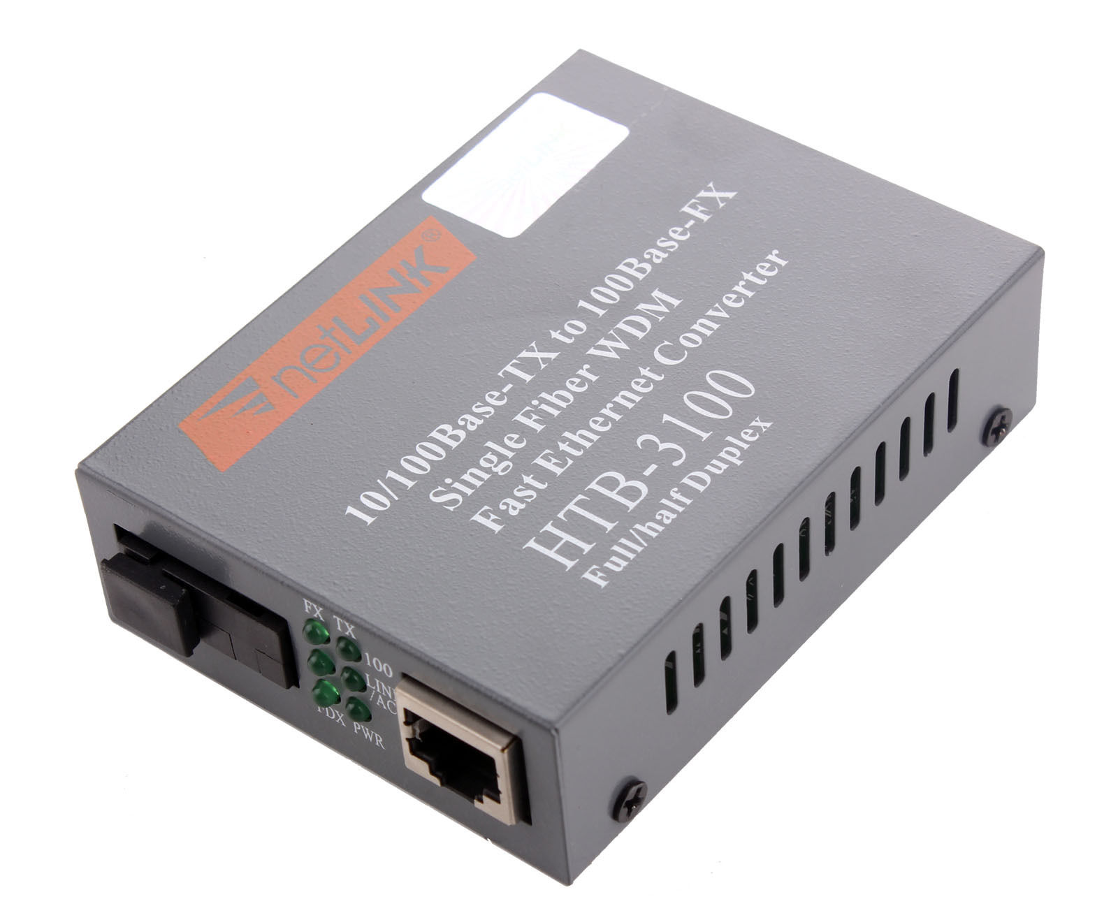 HTB-3100 netLINK 10/100M Single-mode Single-fiber WDM Fiber Media Converter