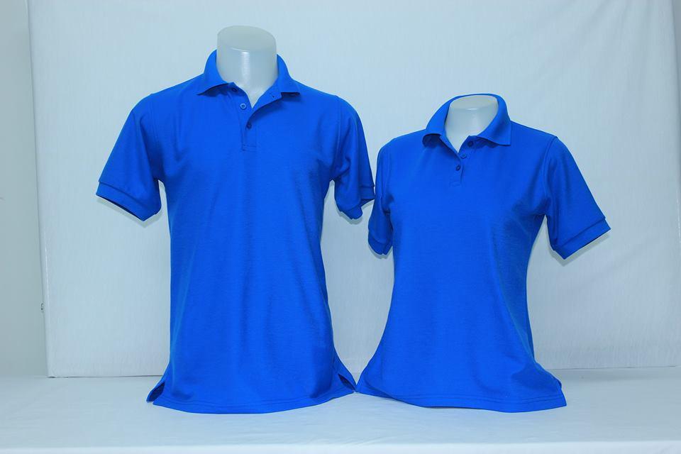 เสื้อโปโลชาย สีน้ำเงิน ไซส์/M/รอบอก38