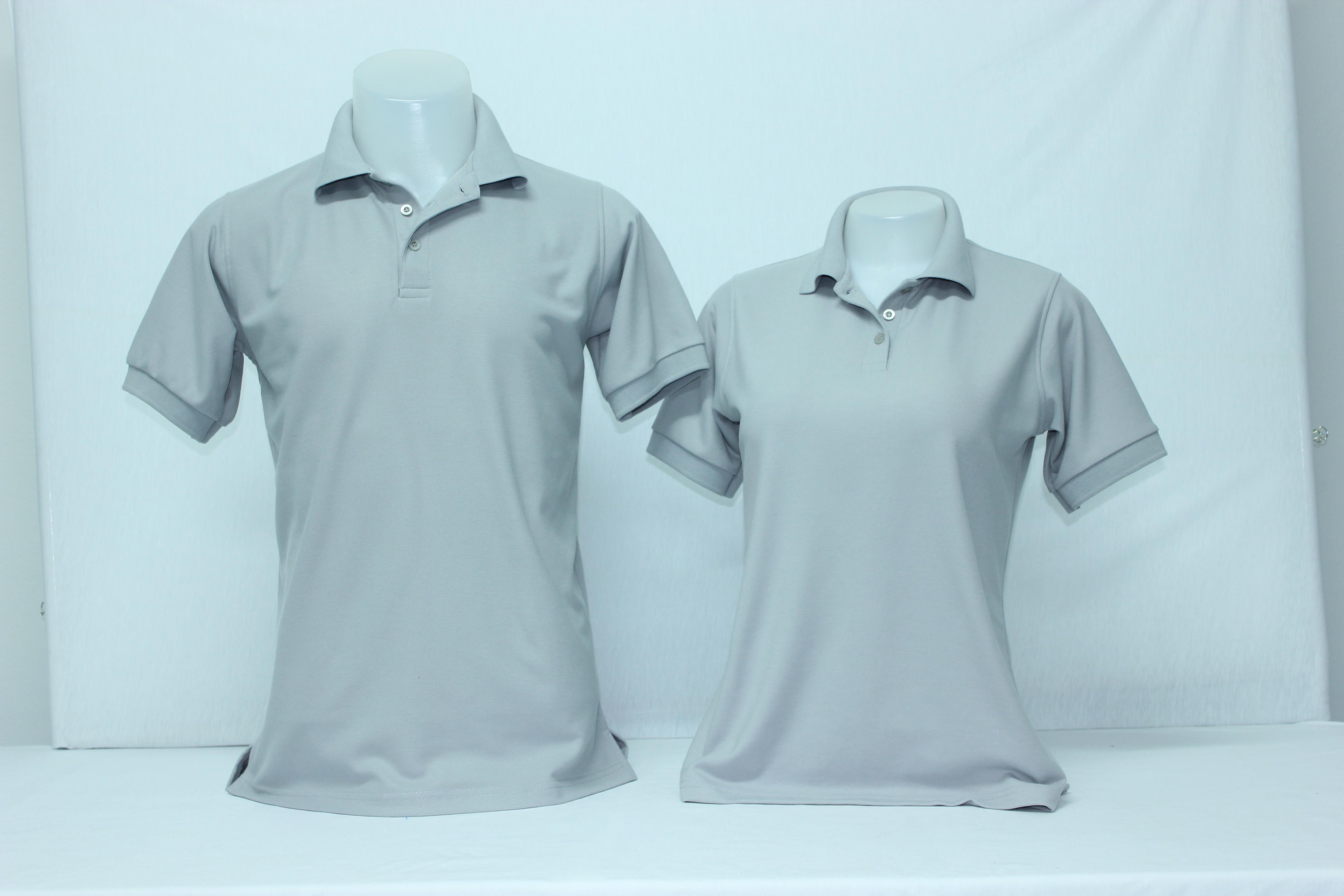 เสื้อโปโลชาย สีเทาอ่อน ไซส์/2XL/รอบอก44