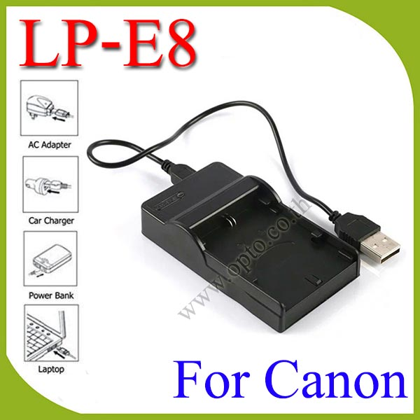 USB LP-E8 Battery Charger แท่นชาร์จสำหรับแบตเตอรี่Canon LP-E8 กล้องรุ่น 550D 600D 650D 700D