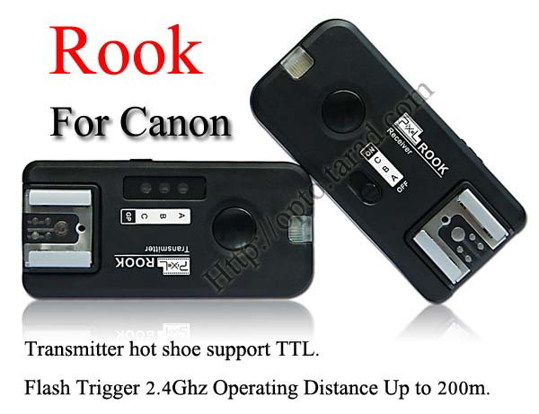 Pixel Rook 2.4GHz Wire/Wireless 5 in 1 Trigger Set for Canon