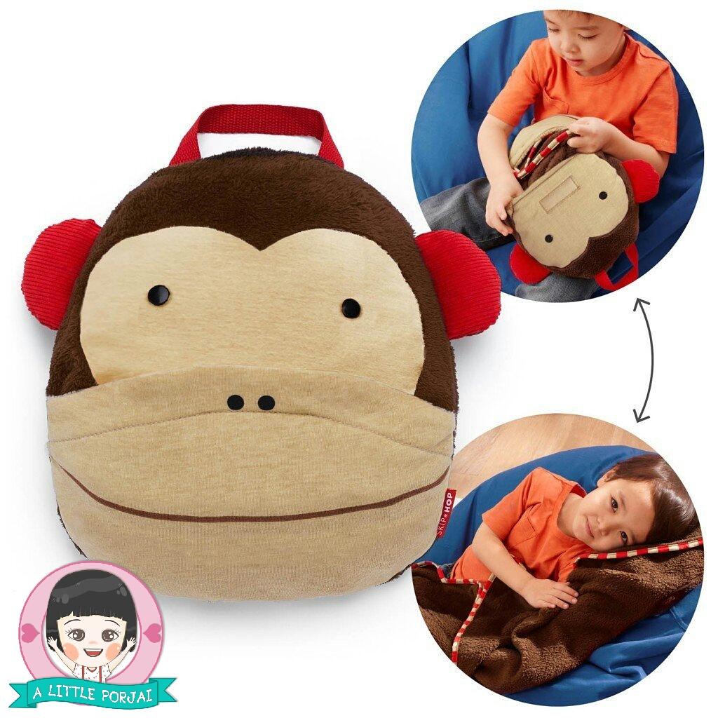 ผ้าห่มพกพา ลิง
