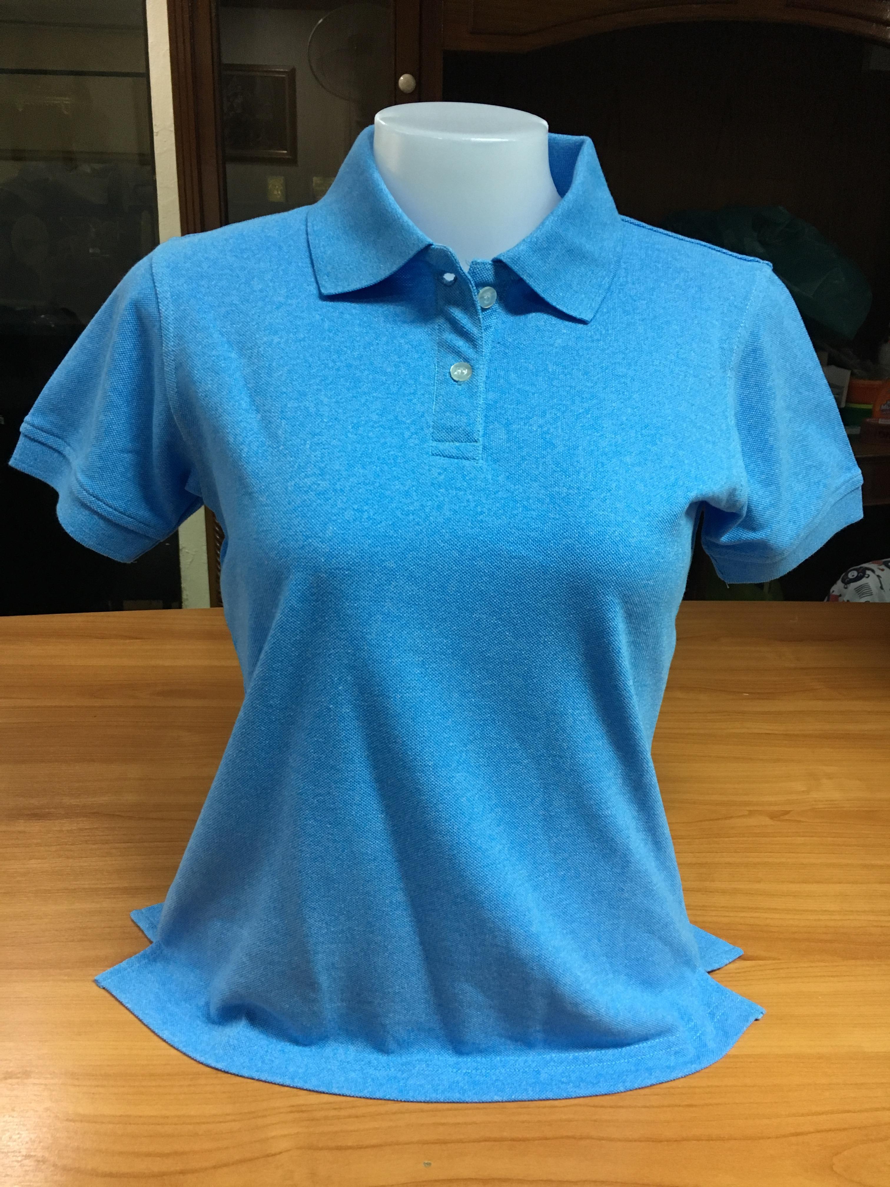 เสื้อโปโลหญิง สีฟ้า ไซส์/S/รอบอก34นิ้ว