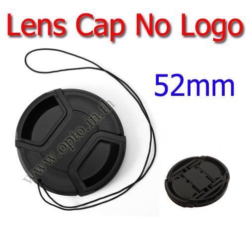 52mm. ฝาปิดหน้าเลนส์ไม่มีโลโก้สำหรับกล้อง Canon Nikon Sony Sigma Tamron