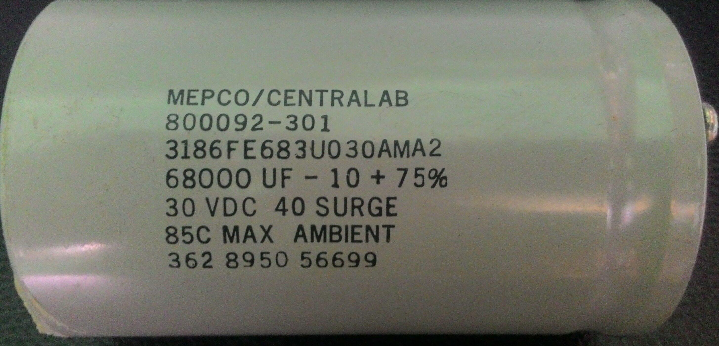คาปาชิเตอร์ 68000 uF/30VDC 40V Surge