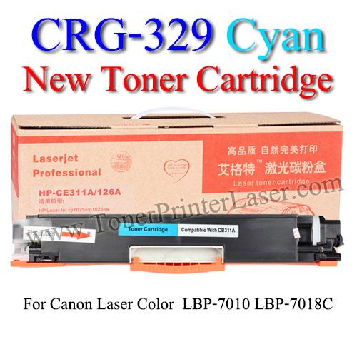 CRG-329 Cyan For Canon LBP7018C Toner Printer Laser (New Cartridge) ตลับหมึกสีฟ้า