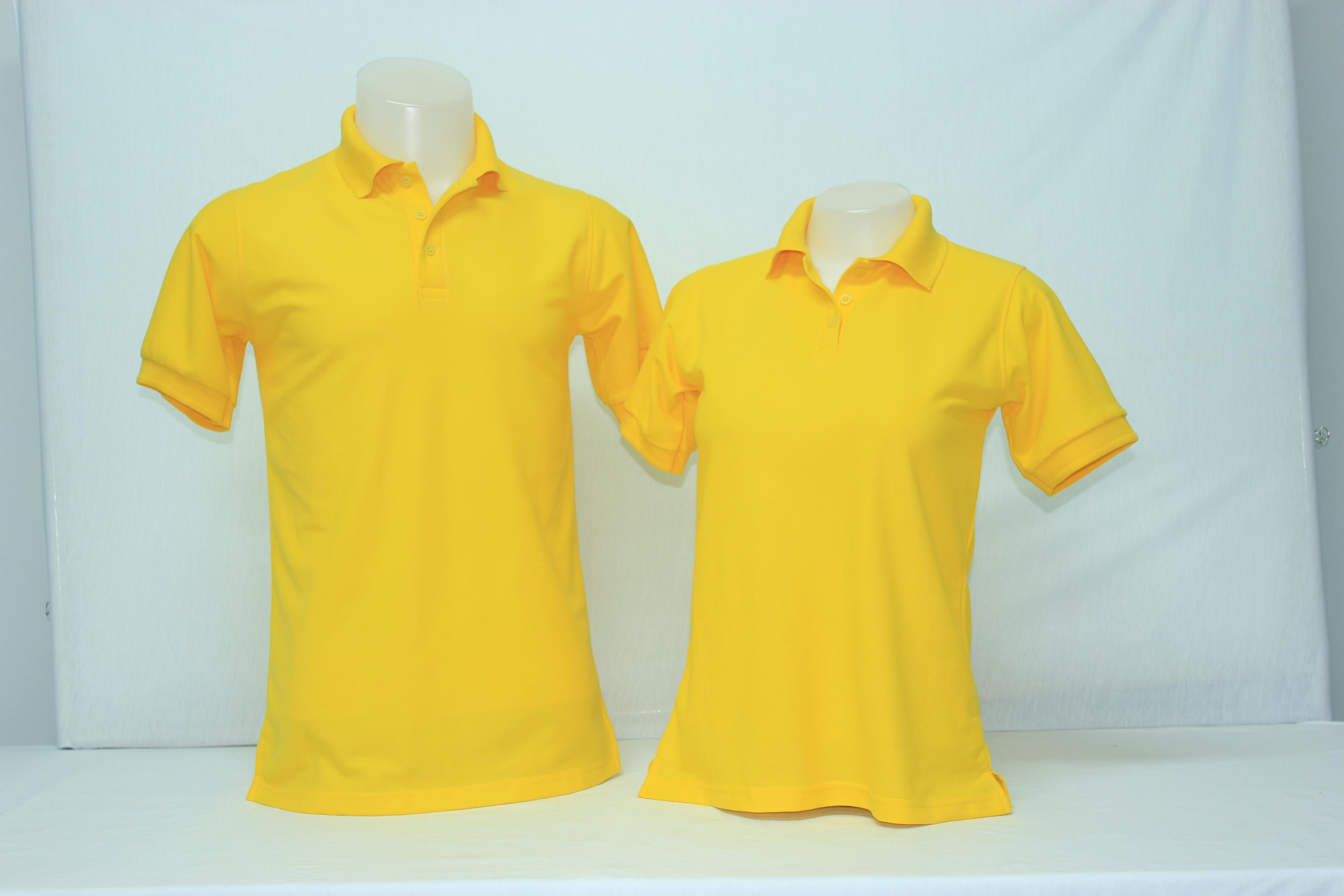 เสื้อโปโลหญิง สีเหลือง ไซส์/M/รอบอก38