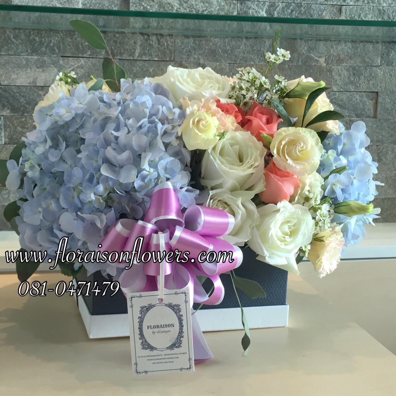 กล่องดอกไม้ วันเกิด (M)