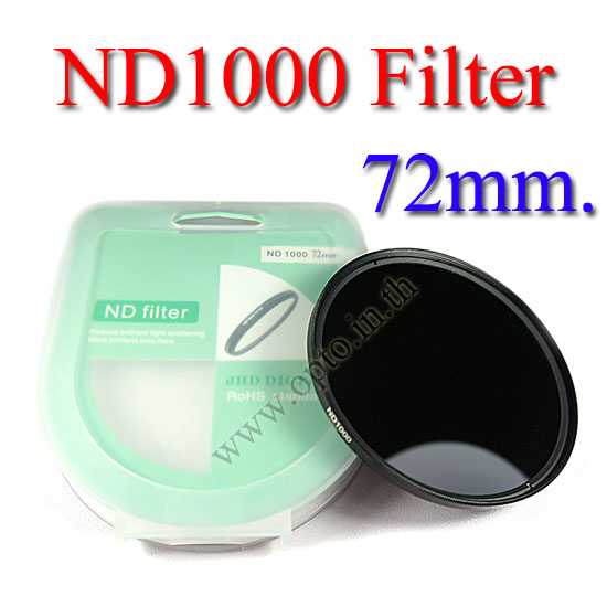 Neutral Density ND 1000 (10 Stop ND) ND1000 Filter 72mm.