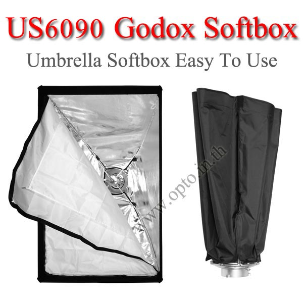 US6090 Umbrella SoftBox Bowen's Mount , Rectangular 60×90CM ซอฟท์บ๊อกซ์ไฟสตูดิโอ