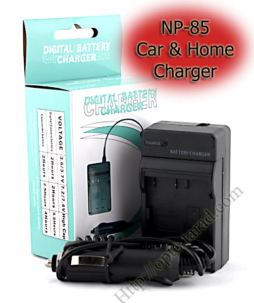 Home+Car Battery Charger For FUJIFILM NP-85