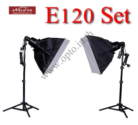 E120 Set 120Wx2 Professional Flash Nice Studio Kit