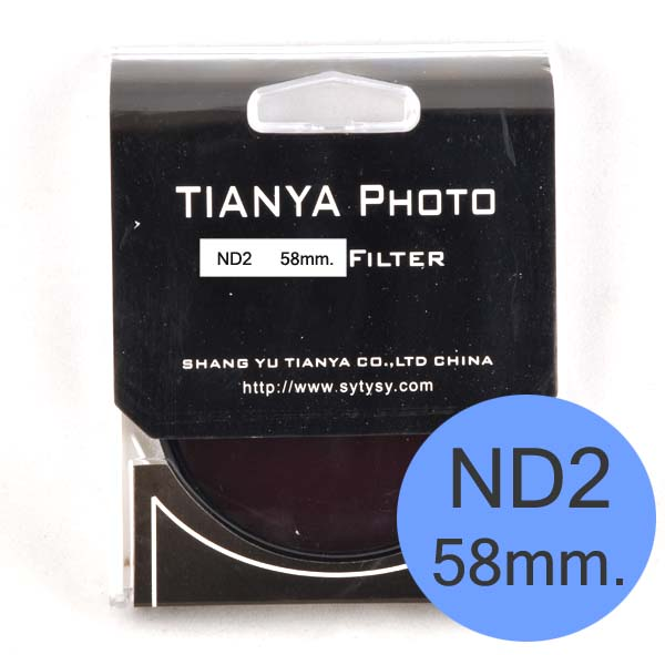 TIANYA Neutral Density ND 2 ND2 Filter 58mm.