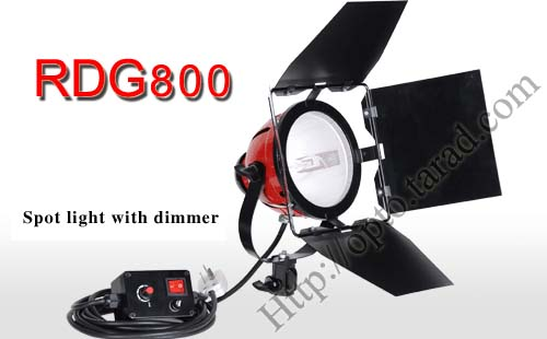 800W Continuous Lighting halogen bulb Photography with Dimmer