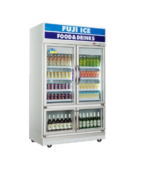 ตู้แช่เย็นมินิมาร์ท 4 ประตู (เก็บน้ำแข็ง) ฟูจิไอซ์
