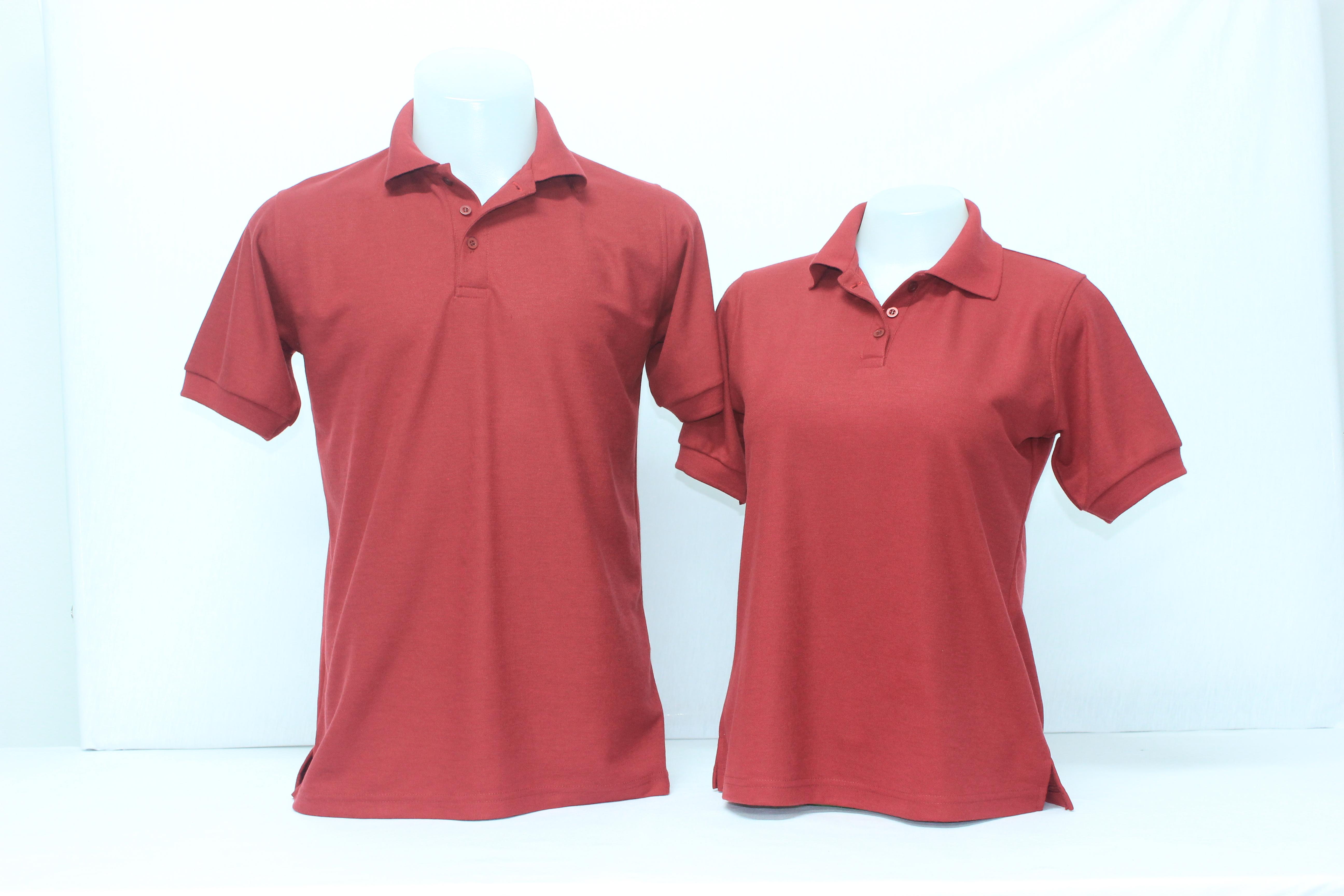 เสื้อโปโลชาย สีเลือดหมู ไซส์/5XL/รอบอก50