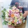 ช่อดอกกุหลาบอังกฤษ สีพาสเทล (XL)