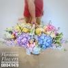 กระเช้าดอกไม้ แสดงความยินดี โทนสีสดใส (XL)