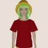 เสื้อยืดเด็กสีเลือดหมู ผ้าคอทตอน#32ไซส์L