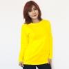 เสื้อยืดแขนยาวสีเหลือง ผ้าคอทตอน#32ไซส์M