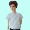 เสื้อยืดเด็กสีเทาท๊อฟ ผ้าคอทตอน#32ไซส์S
