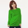 เสื้อยืดแขนยาวสีเขียวไมโล ผ้าคอทตอน#32ไซส์XL